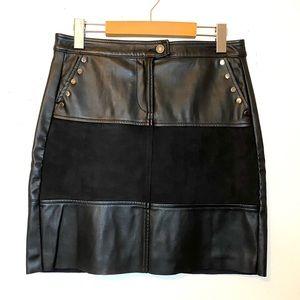 ESQUALO Vegan Leather Mini Skirt